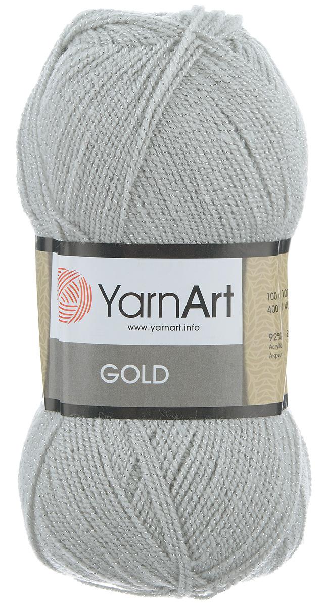 Пряжа для вязания YarnArt Gold, цвет: светло-серый (14500), 400 м, 100 г, 5 шт372007_14500Мерцающая нитка с люрексом для вязания YarnArt Gold равномерно окрашена с помощью стойких высококачественных красителей, нить плотно скручена, люрекс не выбивается в процессе вязания, петли ложатся равномерно. YarnArt Gold - декоративная пряжа с широкой цветовой палитрой, предназначенная для демисезонной одежды. Акрил защищает готовое изделие от деформации после стирки и сушки. Нить гибкая и эластичная, хорошо тянется, превосходно сохраняет форму после носки. Изысканная пряжа для создания вечерних нарядов выглядит дорого и стильно. Рекомендуется для вязания на спицах 2,75 мм и крючках 3,25 мм. Состав: 92% акрил, 8% металлик (полиэстер).