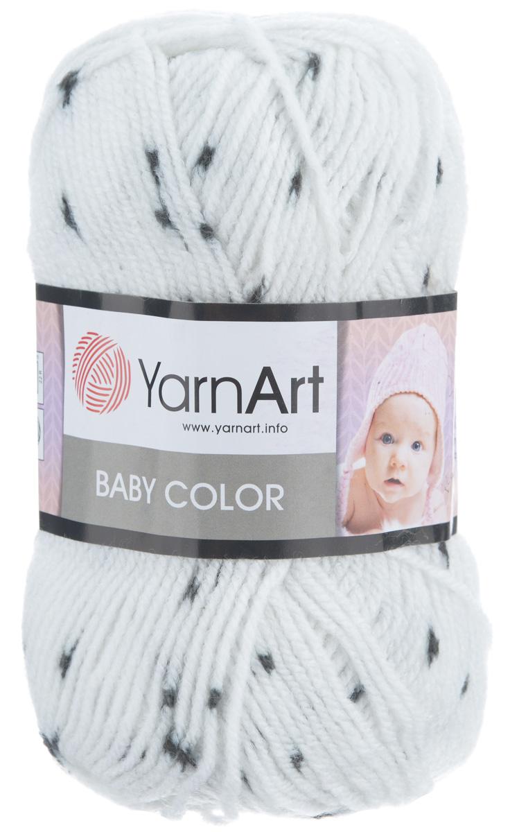 Пряжа для вязания YarnArt Baby Color, цвет: белый, черный (273), 150 м, 50 г, 5 шт372024_273Детская пряжа для вязания YarnArt Baby Color изготовлена из высококачественного 100% акрила. Из пряжи YarnArt Baby Color получается тонкий и теплый трикотаж для ребенка. Допускается легкая машинная стирка вещей. Цветовая палитра из ярких цветов подходит как для мальчиков, так и для девочек. Рекомендуется для вязания на крючках и спицах 3,5 мм. Состав: 100% акрил.