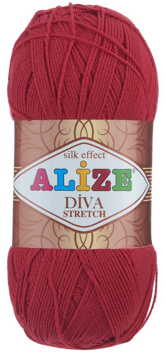 Пряжа для вязания Alize Diva Stretch, цвет: алый (106), 400 м, 100 г, 5 шт367021_106Легкая пряжа Alize Diva Stretch изготовлена из микрофибры с добавлением ПБТ эластика. Пряжа не выгорает на солнце и не линяет. Готовые изделия из этой пряжи быстро сохнут, после намокания практически не деформируются. Эластичная пряжа Diva Stretch обладает поистине уникальными характеристиками. Она мягкая, тонкая и в то же время прочная, она легко ложится в приятное на ощупь, упругое, тянущееся, но сохраняющее свою форму полотно и отлично смотрится в узорах. Изделия, связанные из этой пряжи, прекрасно держат форму и не растягиваются. Пряжа стрейч. Готовое изделие из пряжи Alize Diva Stretch после первой стирки слегка садится. Поэтому, перед тем, как начать работать с этой нитью, рекомендуется связать образец, постирать и высушить его, выяснить степень усадки и только потом, с учетом этих данных, делать расчет петель. Рекомендованные спицы: 2-3,5 мм. Рекомендованный крючок: 1-3 мм. Состав: 92% микрофибра (акрил), 8% ПБТ...