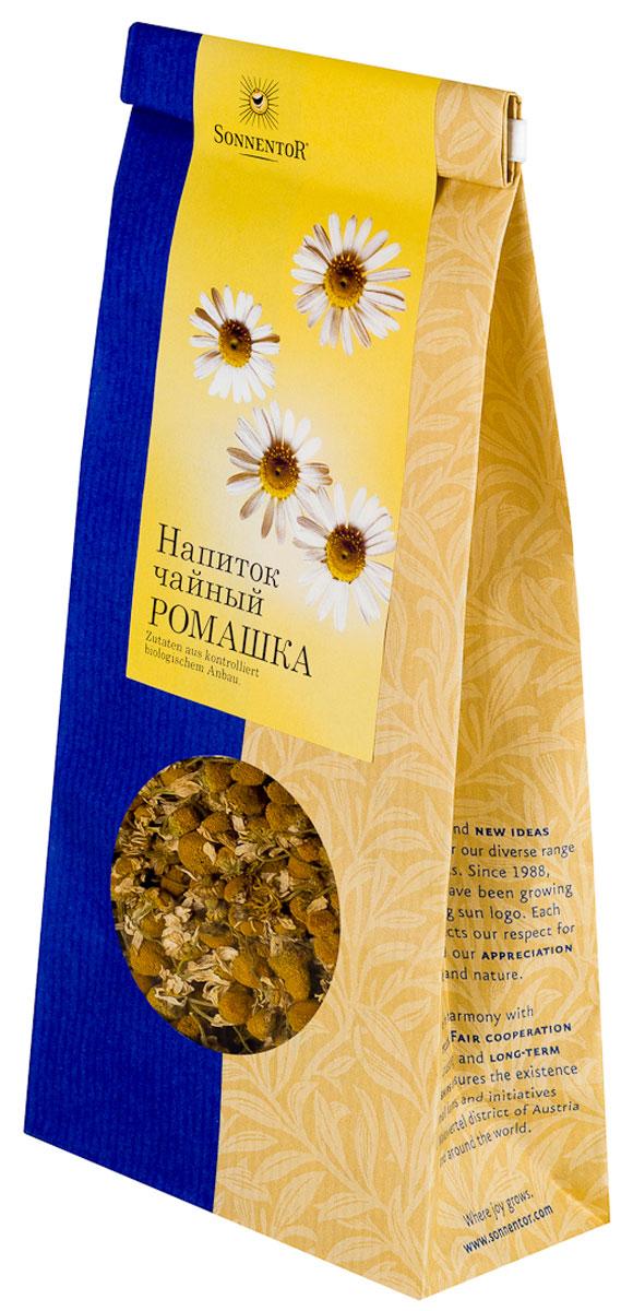 Sonnentor Ромашка листовой травяной чай, 50 гNT206Ромашки цветы-бальзам для души. Свежий ромашковый чай Sonnentor из высококачественных цветков, собранных с экологически чистых полей Австрии имеет пряно-ароматный вкус. Чай можно пить с медом и сахаром, а частичка лимона добавит этому чаю утонченный вкус и аромат. Помимо нежного вкуса и аромата ромашка обладает большим количеством полезных свойств: подходит для восстановления и профилактики расстройств нервной системы. Чай из ромашки имеет выраженное успокаивающее свойство и помогает бороться с бессонницей.