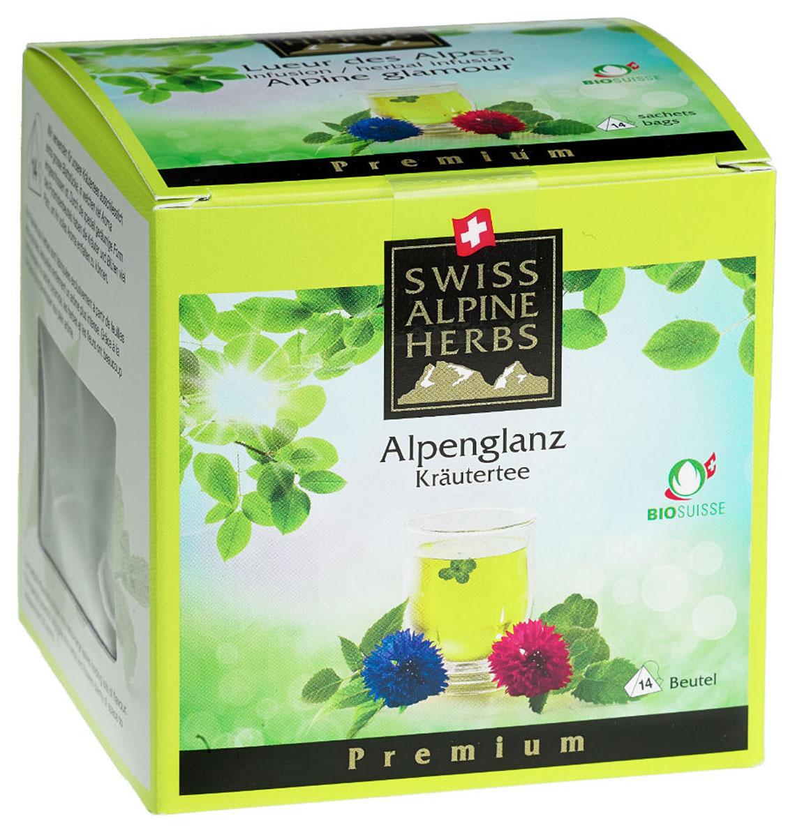 Swiss Alpine Herbs Альпийский гламур травяной чай в пакетиках, 14 штS8019Элитный чай в пирамидках Swiss Alpine Herbs – это вкусный, бодрящий и тонизирующий напиток. В его состав входят альпийские травы: мелисса, марокканская мята, апельсиновая мята, яблочная мята, монарда двойчатая, цветки василька голубого и красного. Это не просто вкусный, но и очень полезный чай, который обеспечит ваш организм необходимыми витаминами.