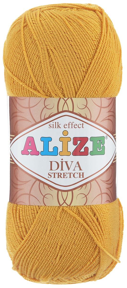Пряжа для вязания Alize Diva Stretch, цвет: желтый (488), 400 м, 100 г, 5 шт367021_488Легкая пряжа Alize Diva Stretch из микрофибры с добавлением ПБТ эластика. Пряжа не выгорает на солнце и не линяет. Готовые изделия из этой пряжи быстро сохнут, после намокания практически не деформируются. Эластичная пряжа Diva Stretch обладает поистине уникальными характеристиками. Она мягкая, тонкая и в то же время прочная, она легко ложится в приятное на ощупь, упругое, тянущееся, но сохраняющее свою форму полотно и отлично смотрится в узорах. Изделия, связанные из этой пряжи, прекрасно держат форму и не растягиваются. Пряжа стрейч. Готовое изделие из пряжи Alize Diva Stretch после первой стирки слегка садится. Поэтому, перед тем, как начать работать с этой нитью, рекомендуется связать образец, постирать и высушить его, выяснить степень усадки и только потом, с учетом этих данных, делать расчет петель. Рекомендованные спицы № 2-3,5, крючок № 1-3. Состав: 92% микрофибра (акрил), 8% ПБТ эластик.