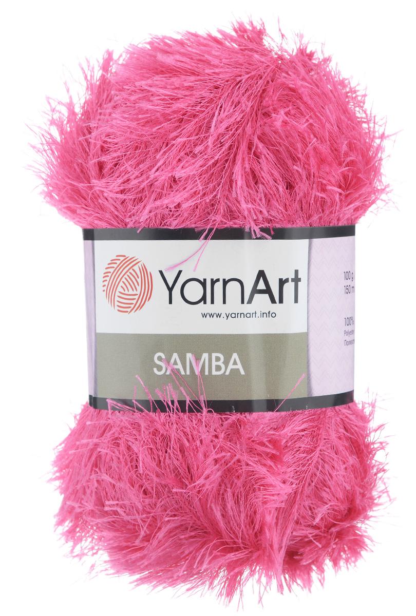 Пряжа для вязания YarnArt Samba, цвет: ярко-розовый (2012), 150 м, 100 г, 5 шт372009_2012Пряжа для вязания YarnArt Samba, изготовленная из 100% полиэстера, представляет собой яркий пример отделочной нити, с помощью которой можно придать оригинальность и красоту каждому изделию. Из такой пряжи великолепно получаются коврики и пледы, чехлы для мебели, шарфы, палантины, болеро, жилеты и многие другие изделия. Подходит для вязания на спицах и крючках 5,5 мм. Состав: 100% полиэстер. Комплектация: 5 шт.