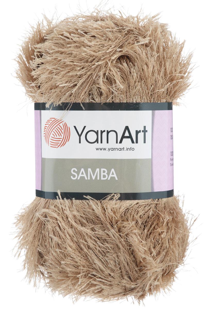 Пряжа для вязания YarnArt Samba, цвет: бежевый (3276), 150 м, 100 г, 5 шт372009_3276Пряжа для вязания YarnArt Samba, изготовленная из 100% полиэстера, представляет собой яркий пример отделочной нити, с помощью которой можно придать оригинальность и красоту каждому изделию. Из такой пряжи великолепно получаются коврики и пледы, чехлы для мебели, шарфы, палантины, болеро, жилеты и многие другие изделия. Подходит для вязания на спицах и крючках 5,5 мм. Состав: 100% полиэстер. Комплектация: 5 шт.