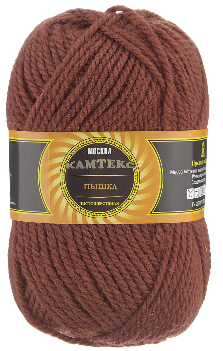 Пряжа для вязания Камтекс Пышка, цвет: терракот (051), 110 м, 100 г, 10 шт136080_051Пряжа для вязания Камтекс Пышка изготовлена из 100% импортной шерсти. Пряжа очень толстая и теплая, хорошо подходит для вязания верхней одежды, делает узоры фактурными и выразительными. Готовые изделия имеют богатый внешний вид, красивую структуру трикотажа. Идеальна для вязания пальто, шапок, шарфов, пледов. Рекомендуемые для вязания спицы и крючки 3-5 мм. Состав: 100% импортная шерсть. Комплектация: 10 шт. Толщина нити: 3 мм.