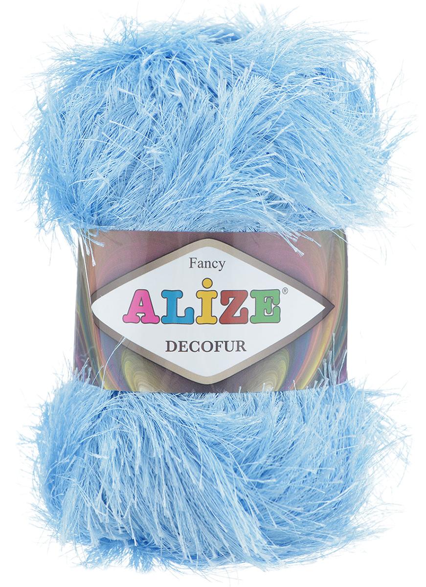 Пряжа для вязания Alize Decofur, цвет: голубой (40), 110 м, 100 г, 5 шт364128_40Пряжа Decofur изготовлена из высококачественного полиэстера. Пряжа - травка используется как для вязания самостоятельных пушистых изделий, так и для отделки. Это могут быть нарядные кофточки, куртки, накидки, шарфы, шапки, шали, предметы домашнего интерьера, игрушки и многое другое. Рекомендованные спицы для вязания: 6-8 мм. Рекомендованный крючок для вязания: 3-4 мм. Комплектация: 5 шт. Состав: 100% полиэстер.