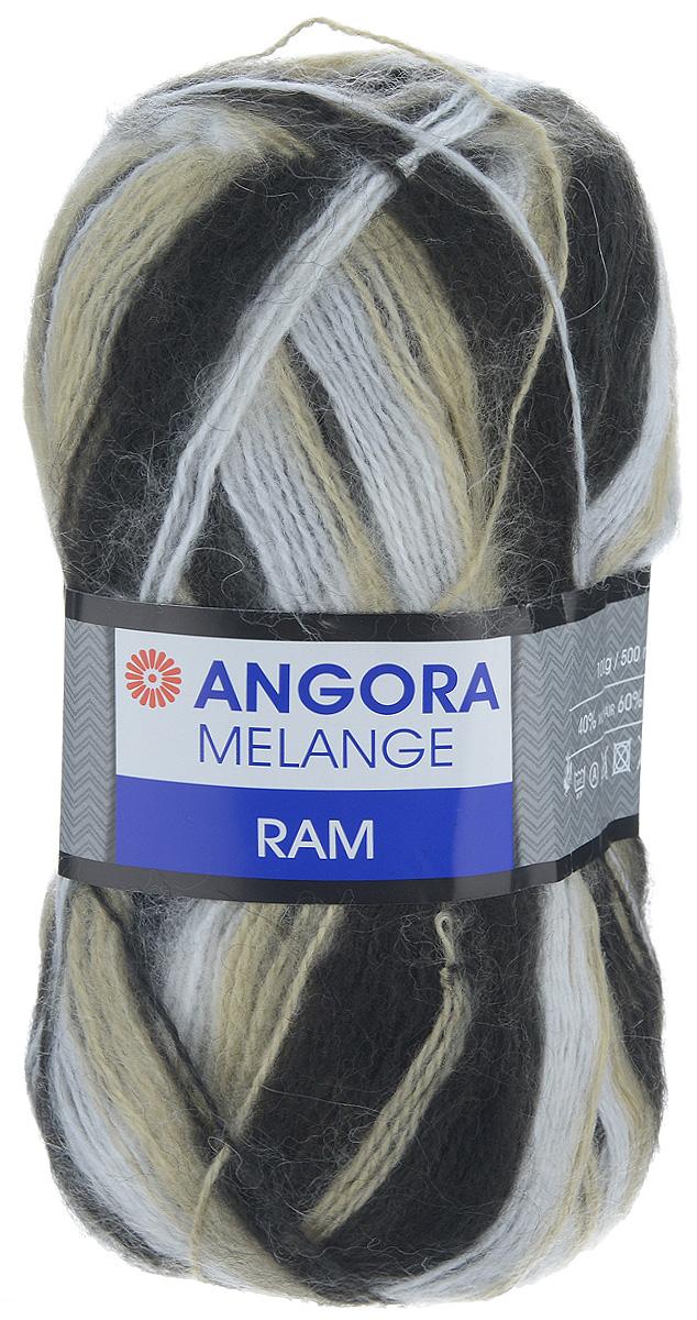 Пряжа для вязания YarnArt Angora Ram. Melange, цвет: белый, бежевый, черный (723), 500 м, 100 г, 5 шт486194_723Пряжа для вязания YarnArt Angora Ram. Melange состоит из 40% мохера и 60% акрила. Такая пряжа подойдет для вязки шарфов, шапок, свитеров и другой теплой одежды. Пряжа приятная на ощупь, изделия из нее получаются мягкие, теплые и приятные к телу. Стирка при температуре не более 30°С. Рекомендованные для вязания спицы 4 мм. Состав: 40% мохер, 60% акрил.