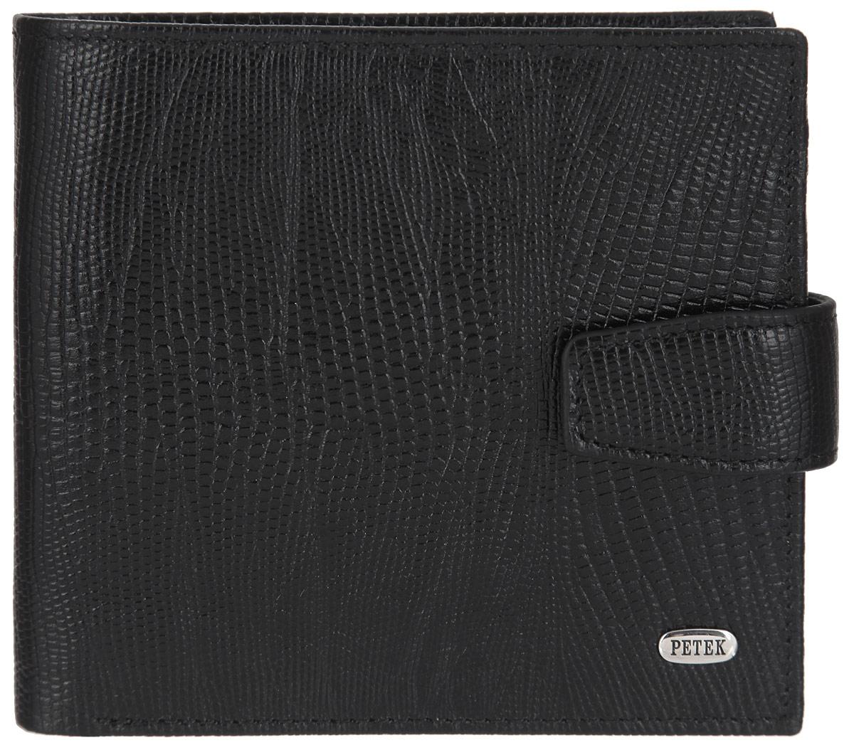 Портмоне мужское Petek 1855, цвет: черный. 2323.041.01 2323.041.01 Black