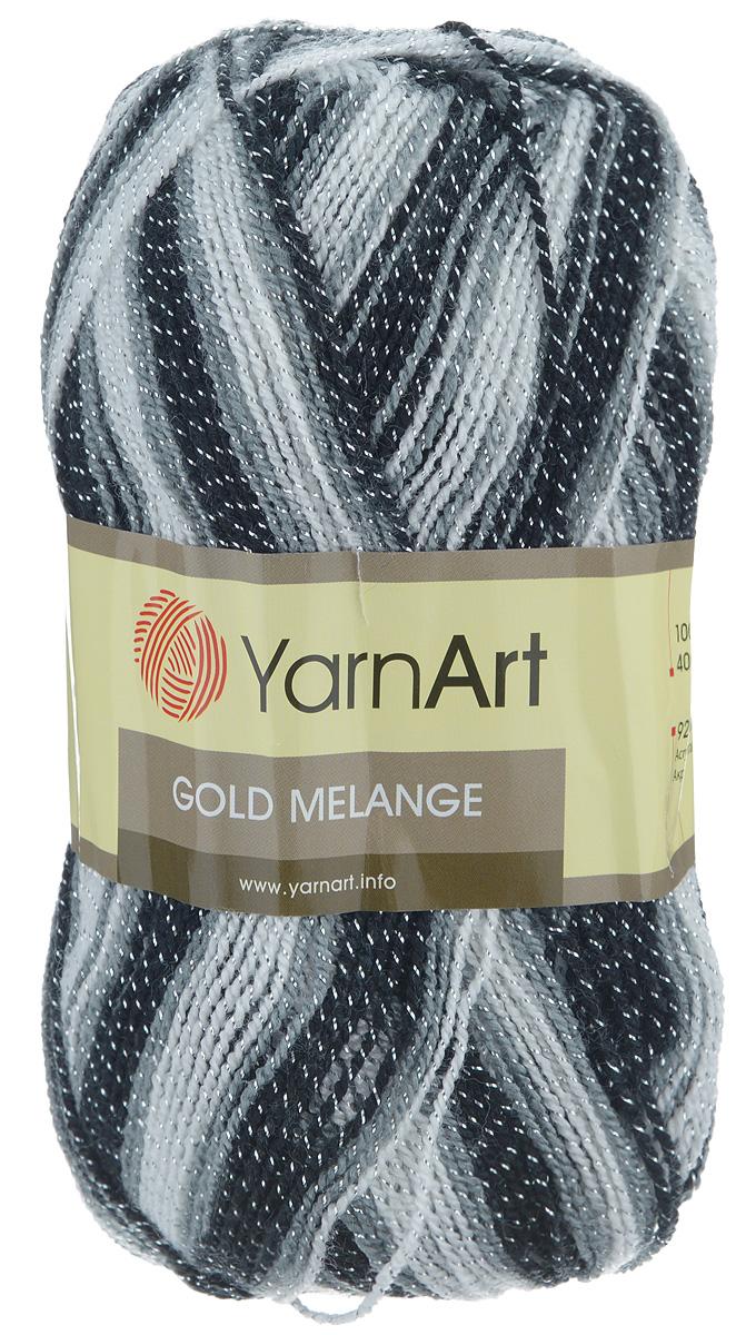 Пряжа для вязания YarnArt Gold Melange, цвет: белый, серый, черный (9502), 400 м, 100 г, 5 шт372102_9502Пряжа YarnArt Gold Melange изготовлена из акрила с добавлением металлик полиэстера. Цвета плавно переходят один в другой, что очень удобно при вязании жаккардовым узором. Пряжа меланжевая, поэтому подходит для изделий под любой гардероб, идеальна для вязания шарфов и декоративной отделки вязаного изделия. Пряжа окрашена равномерно с помощью стойких высококачественных красителей, нить плотно скручена, полиэстер не выбивается в процессе вязания, петли ложатся равномерно. YarnArt Gold Melange - декоративная пряжа с широкой цветовой палитрой, предназначенная для демисезонной одежды. Акрил защищает готовое изделие от деформации после стирки и сушки. Вяжется легко и быстро. Даже новичкам доступно сделать неповторимое изделие. Стильная пряжа с привлекательным, благородным блестящим эффектом. Рекомендованные спицы и крючок № 2,75-3,25. Состав: 92% акрил, 8% металлик полиэстер.