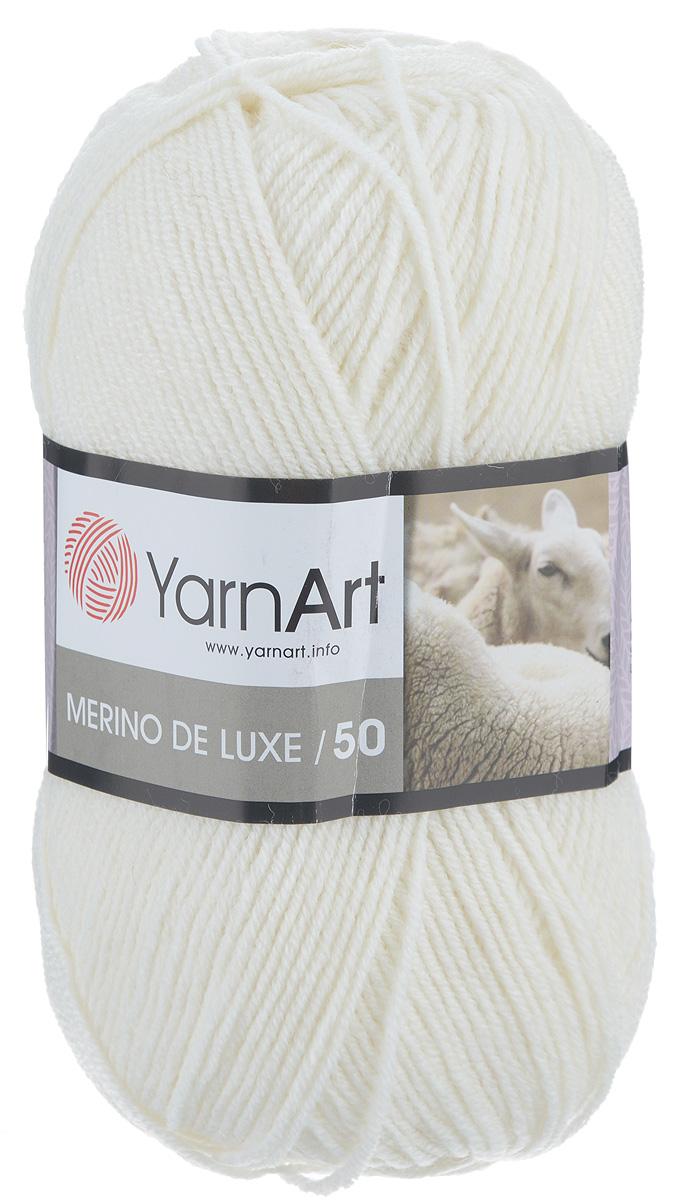 Пряжа для вязания YarnArt Merino de Lux, цвет: белый (501), 280 м, 100 г, 5 шт372049_501Классическая пряжа для вязания YarnArt  Merino de Lux изготовлена из шерсти и акрила. Пряжа очень мягкая и приятная на ощупь. Теплая, уютная, эта пряжа идеально подходит для вязки демисезонных вещей. Шапочки, шарфы, снуды, свитера, жилеты вяжутся из этой пряжи быстро и легко. Изделия приятны в носке и долго не теряют форму после ручной стирки. Рекомендуются спицы 3,5 мм, крючок 4 мм. Состав: 49% шерсть, 51% акрил.