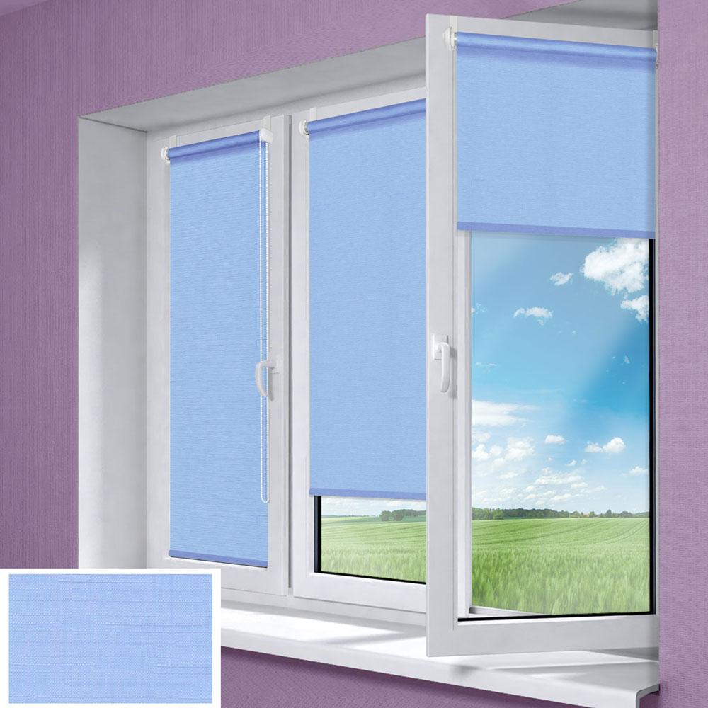 Штора рулонная Миниролло, 62х170см, тканевые, цвет: голубой3062005