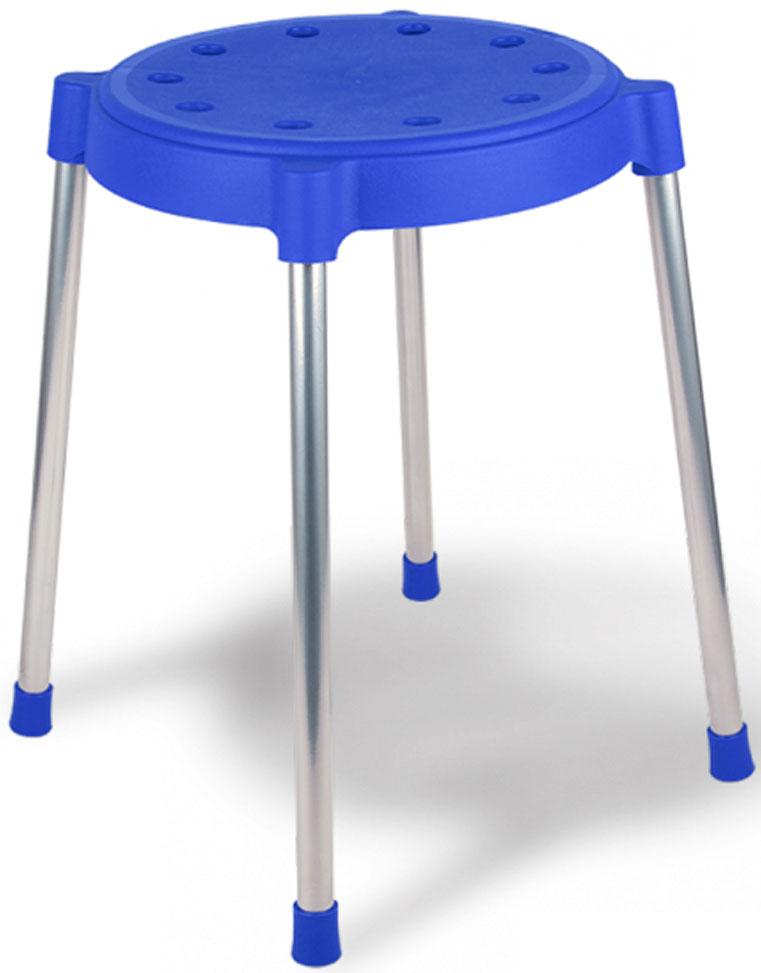 Табурет Sheffilton, цвет: синий, 35 см х 35 см х 44 смТ-36Удобный и практичный табурет Sheffilton подходит для использования на кухне, веранде, даче, беседке. Компактный и надежный табурет, занимает мало места. Сидение табурета выполнено из полипропилена и оформлено перфорацией. Опорная поверхность ножек стула не скользит на напольных покрытиях, защищает пол от царапин. Ножки выполнены из металла. Выдерживает максимальный вес 100 кг. <br Размер табурета: 35 см х 35 см х 44 см.