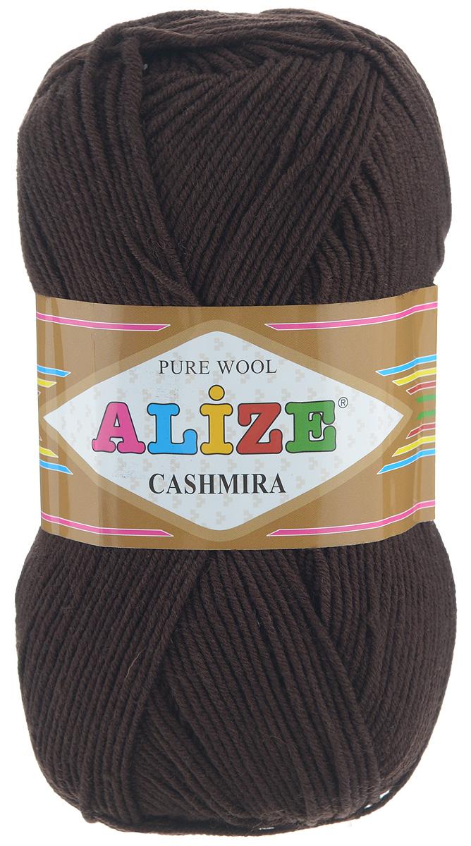 Пряжа для вязания Alize Cashmira, цвет: темно-коричневый (92), 300 м, 100 г, 5 шт364009_92Пряжа для вязания Alize Cashmira изготовлена из 100% шерсти. Пряжа упругая, эластичная, теплая, уютная и не колется, что очень подходит для детей. Тоненькая нитка прекрасно подойдет для вязки демисезонных вещей. Пряжа легко распускается и перевязывается несколько раз, не деформируясь и не влияя на вид изделия. Натуральная шерстяная нить, обеспечивает изделию прекрасную форму. Рекомендуется ручная стирка при температуре 30°C. Рекомендуемый размер спиц 3-5 мм и крючка 2-4 мм. Толщина нити: 3 мм.