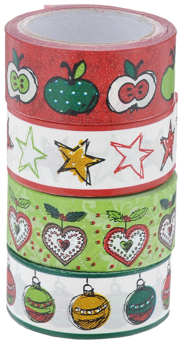 Набор бумажных лент Heyda, на клейкой основе, цвет: красный, зеленый, бледно-розовый, 1,5 см х 500 см, 4 шт203584386Набор Heyda состоит из 4 бумажных лент разных дизайнов. Такой набор идеально подойдет для создания и украшения красивых открыток, скрап-страничек и множества других проектов. Задняя сторона - клейкая. Скрапбукинг - это хобби, которое способно приносить массу приятных эмоций не только человеку, который этим занимается, но и его близким, друзьям, родным. Это невероятно увлекательное занятие, которое поможет вам сохранить наиболее памятные и яркие моменты вашей жизни, а также интересно оформить интерьер дома. Размер ленты: 1,5 см х 500 см.