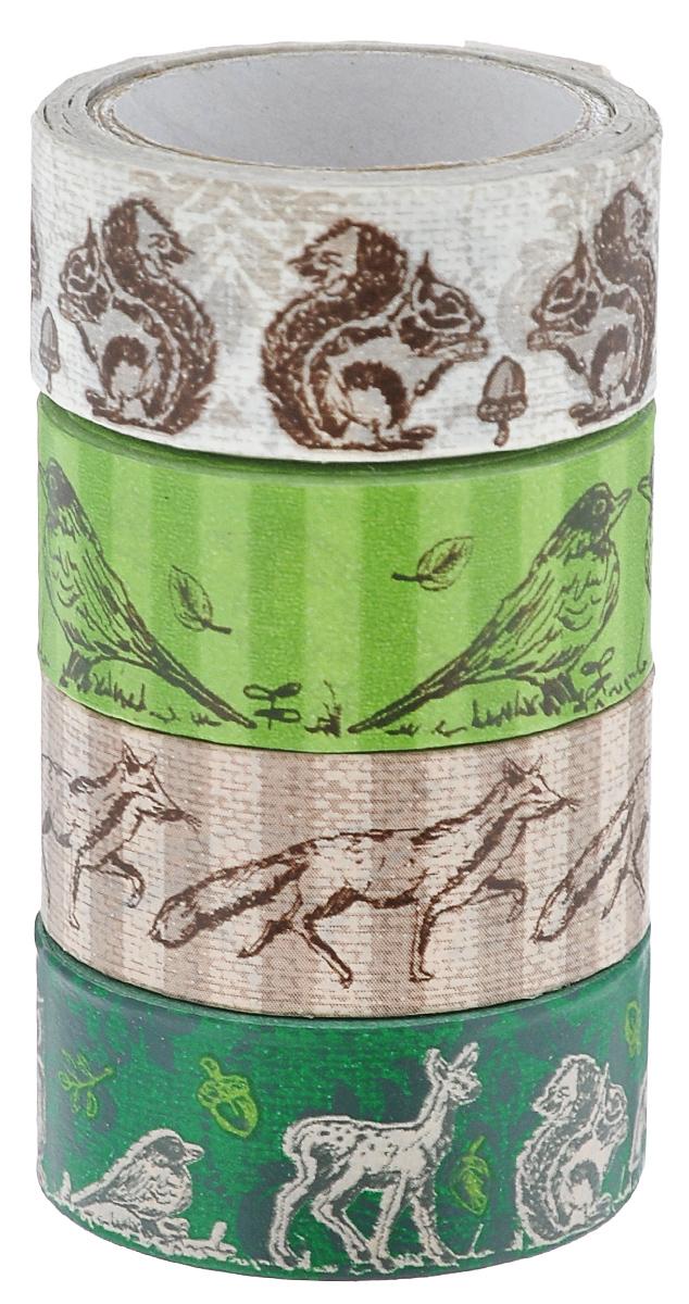 Набор бумажных лент Heyda, на клейкой основе, цвет: коричневый, бежевый, зеленый, 1,5 х 500 см, 4 шт203584388Набор Heyda состоит из 4 бумажных лент разных дизайнов. Такой набор идеально подойдет для создания и украшения красивых открыток, скрап-страничек и множества других проектов. Задняя сторона - клейкая. Скрапбукинг - это хобби, которое способно приносить массу приятных эмоций не только человеку, который этим занимается, но и его близким, друзьям, родным. Это невероятно увлекательное занятие, которое поможет вам сохранить наиболее памятные и яркие моменты вашей жизни, а также интересно оформить интерьер дома. Размер ленты: 1,5 см х 500 см.