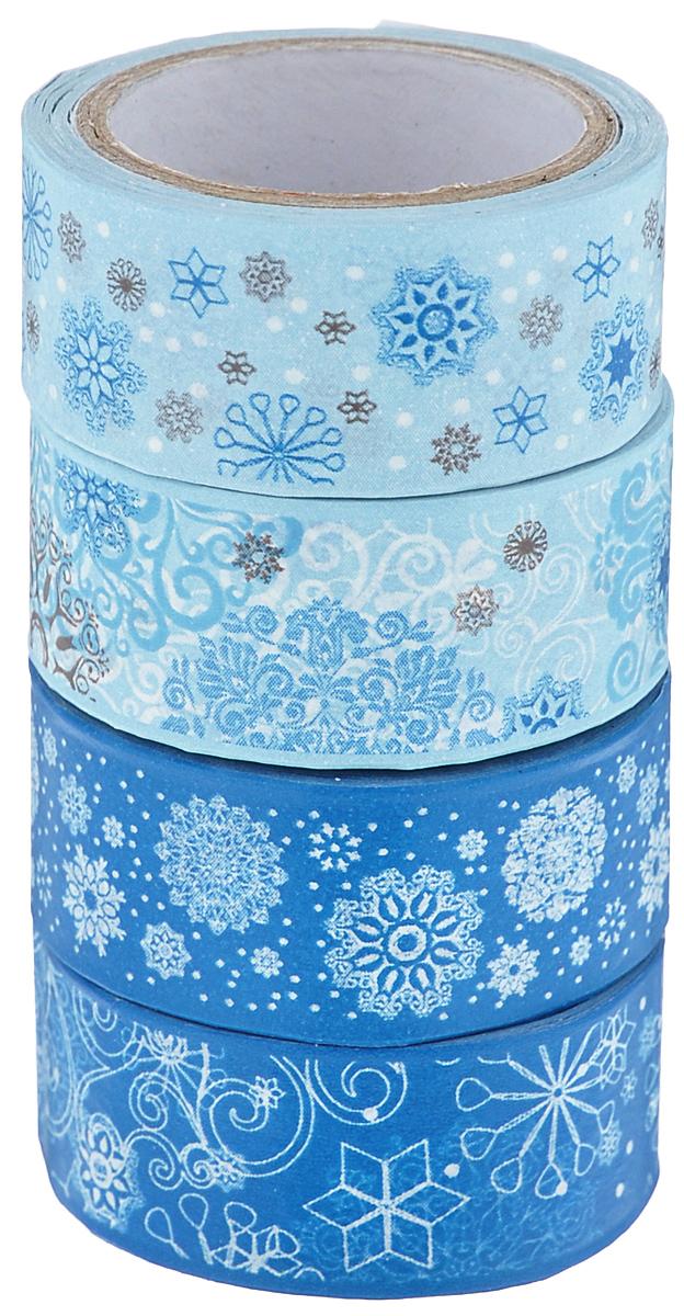 Набор бумажных лент Heyda, на клейкой основе, цвет: синий, голубой, белый, 1,5 см х 500 см, 4 шт203584389Набор Heyda состоит из 4 бумажных лент разных дизайнов. Такой набор идеально подойдет для создания и украшения красивых открыток, скрап-страничек и множества других проектов. Задняя сторона - клейкая. Скрапбукинг - это хобби, которое способно приносить массу приятных эмоций не только человеку, который этим занимается, но и его близким, друзьям, родным. Это невероятно увлекательное занятие, которое поможет вам сохранить наиболее памятные и яркие моменты вашей жизни, а также интересно оформить интерьер дома. Размер ленты: 1,5 см х 500 см.