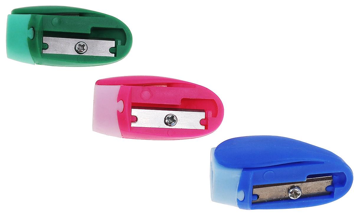 Erich Krause Набор точилок Joy цвет розовый синий зеленый 3 шт21826_ розовый, синий, зеленыйНабор точилок Erich Krause Joy состоит из трех одинарных точилок без контейнера в ярком пластиковом корпусе с клипом для заточки стандартных карандашей диаметром до 8 мм. Каждая точилка компактная по размеру, изготовлена из неломающихся, ударопрочных материалов. Высококачественное стальное лезвие позволит использовать такие точилки длительное время.