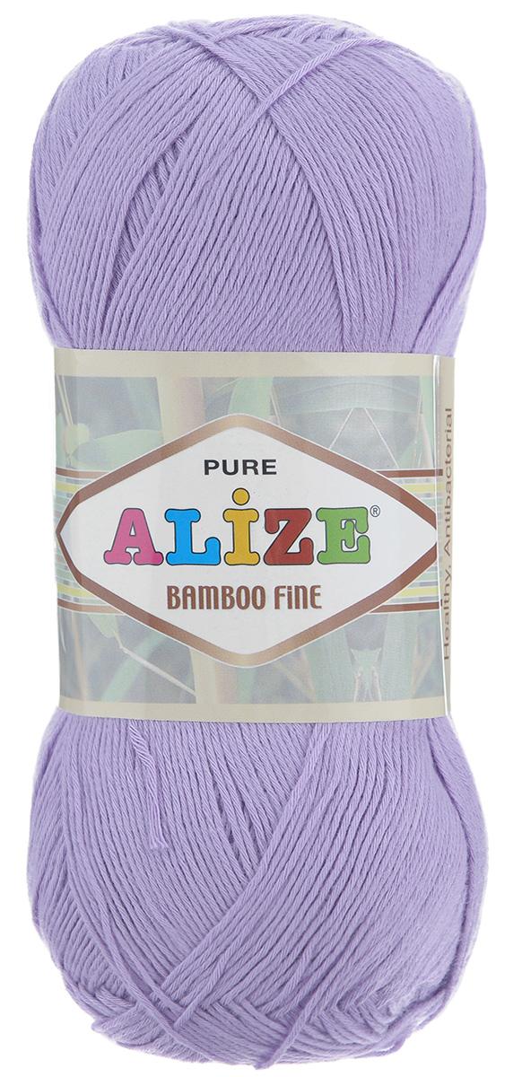 Пряжа для вязания Alize Bamboo Fine, цвет: лиловый (166), 440 м, 100 г, 5 шт688988_166Пряжа Alize Bamboo Fine подходит для ручного вязания детям и взрослым. Пряжа однотонная, приятная на ощупь, хорошо лежит в полотне. Изделия из такой нити получаются мягкие и красивые. Рекомендованные спицы 2,5-3,5 мм и крючок для вязания 1-3 мм. Состав: 100% бамбук.