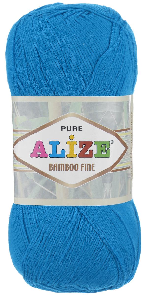 Пряжа для вязания Alize Bamboo Fine, цвет: ярко-голубой (484), 440 м, 100 г, 5 шт688988_484Пряжа Alize Bamboo Fine подходит для ручного вязания детям и взрослым. Пряжа однотонная, приятная на ощупь, хорошо лежит в полотне. Изделия из такой нити получаются мягкие и красивые. Рекомендованные спицы 2,5-3,5 мм и крючок для вязания 1-3 мм. Состав: 100% бамбук.