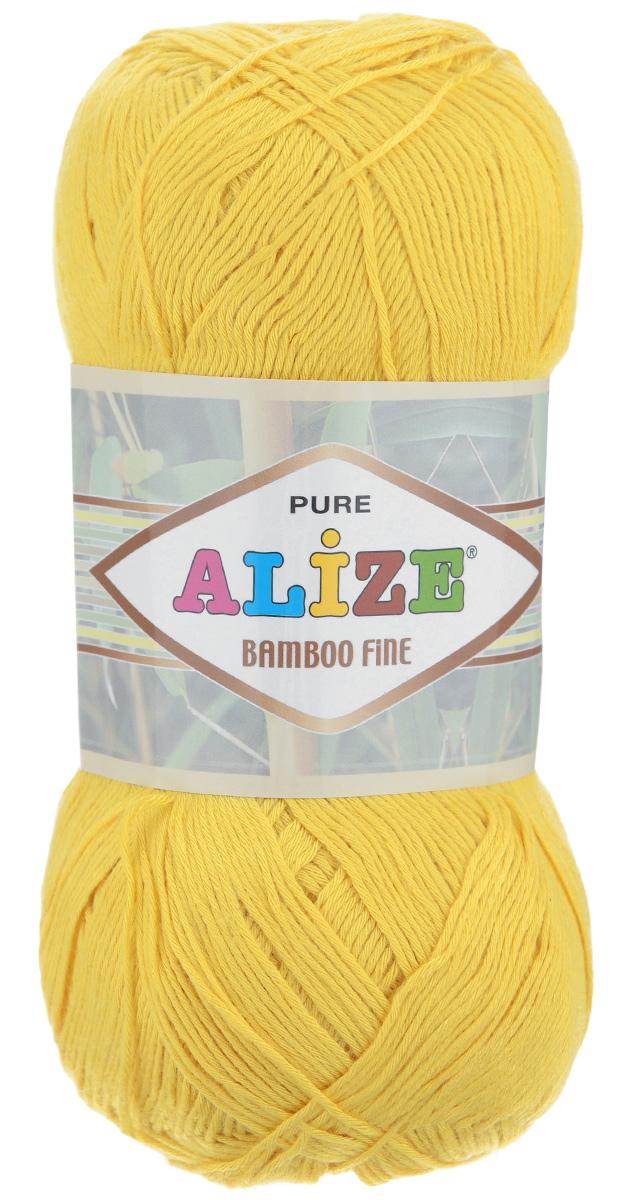 Пряжа для вязания Alize Bamboo Fine, цвет: желтый (216), 440 м, 100 г, 5 шт688988_216Пряжа Alize Bamboo Fine подходит для ручного вязания детям и взрослым. Пряжа однотонная, приятная на ощупь, хорошо лежит в полотне. Изделия из такой нити получаются мягкие и красивые. Рекомендованные спицы 2,5-3,5 мм и крючок для вязания 1-3 мм. Состав: 100% бамбук.