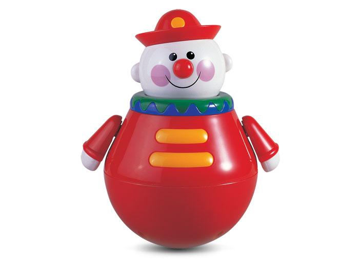 Tolo Classic Неваляшка Клоун89340Неваляшка Клоун Tolo toys с дружелюбной улыбкой будет раскачиваться из стороны в сторону, приводя детишек в неописуемый восторг музыкальным нежным перезвоном колокольчика внутри неваляшки. У чудо-клоуна вращается голова в такт движению. Игрушка благоприятно воздействует на развитие зрительного и тактильного восприятия, мелкой моторики и настраивает детишек на положительный эмоциональный фон и игривый лад.