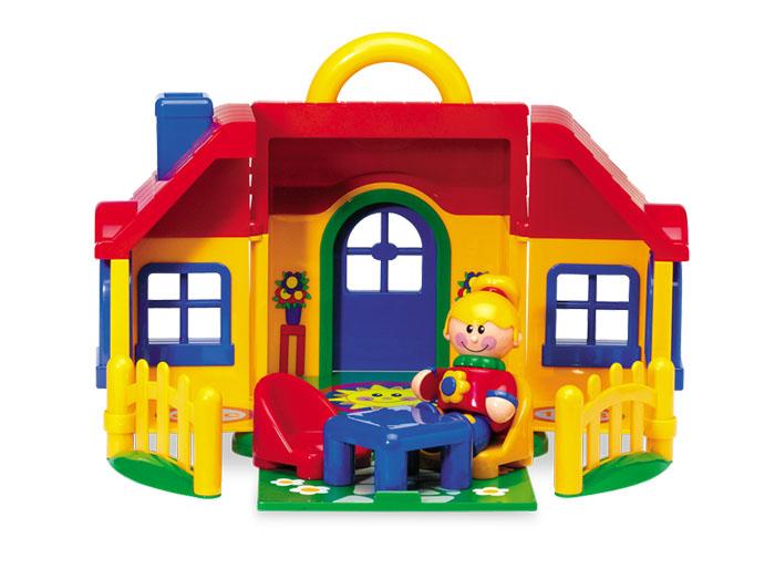 Tolo FF Набор игрушек Домик89738Вся мебель в наборе. Открывающаяся и закрывающаяся дверь. Удобная ручка для переноски домика. Вдохновляет взаимодействие и развивает фантазию. Все семья «Первых Друзей» может поселиться в этом домике. Эта игрушка развивает следующие навыки: