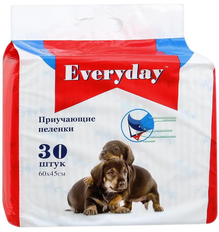EVERYDAY впитывающие пеленки для животных ГЕЛЕВЫЕ 30шт 60х45см56492