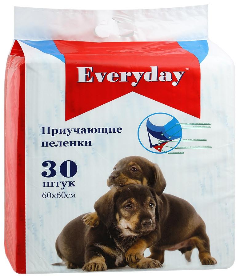 EVERYDAY впитывающие пеленки для животных ГЕЛЕВЫЕ 30шт 60х60см56494