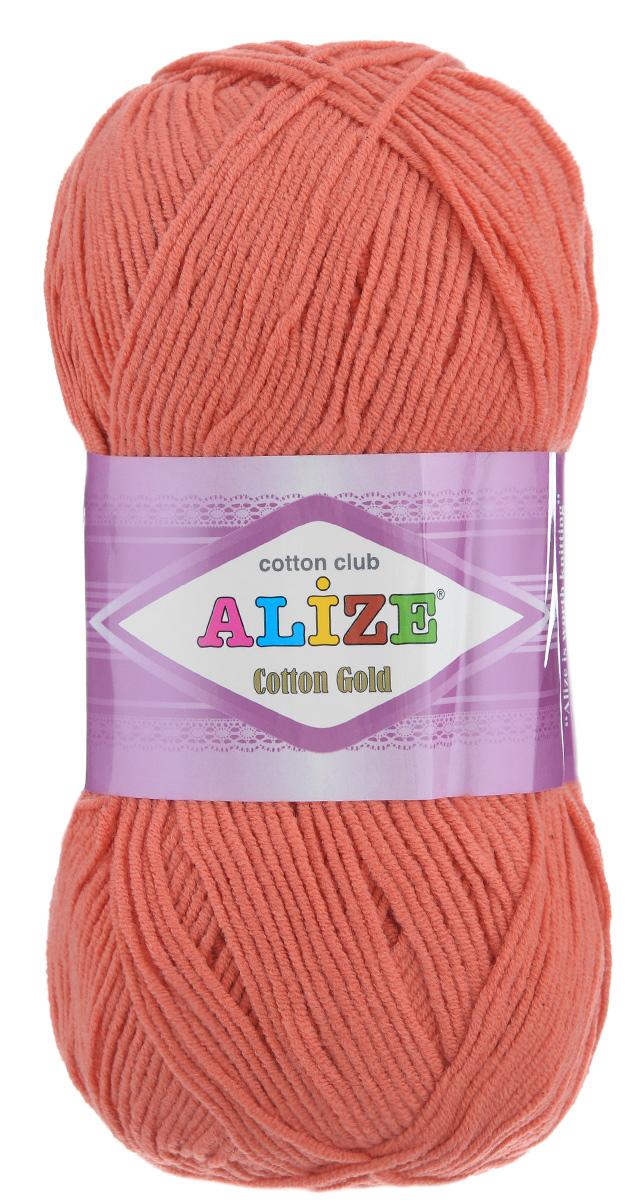 Пряжа для вязания Alize Cotton Gold, цвет: коралловый (38), 330 м, 100 г, 5 шт697548_38Пряжа для вязания Alize Cotton Gold - это классическая демисезонная пряжа из хлопка с акрилом. Данная пряжа отлично подойдет для изделий осень-весна. Также подходит для вязания летних вещей взрослым и детям. Мягкая и бархатистая на ощупь. Полотно получается пластичным, мягким, все переплетения ровные. Рекомендуемый размер спиц: №3,5-5. Рекомендуемый размер крючка: №2-4. Состав: 55% хлопок, 45% акрил.