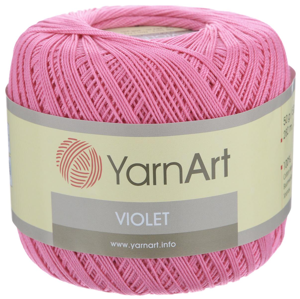 Пряжа для вязания YarnArt Violet, цвет: темно-розовый (5001), 282 м, 50 г, 6 шт372018_5001Пряжа для вязания YarnArt Violet - тонкая, гладкая и упругая пряжа из 100% мерсеризованного хлопка для вязания крючком и спицами. Нить хорошо скручена и не расслаивается. Это классическая пряжа, которая пользуется большой популярностью. Отлично подходит для вязания ажурных изделий. Замечательный вариант для вязания в технике ирландского кружева. Рекомендуется для вязания на крючке и спицах 2,5 мм. Состав: 100% хлопок.