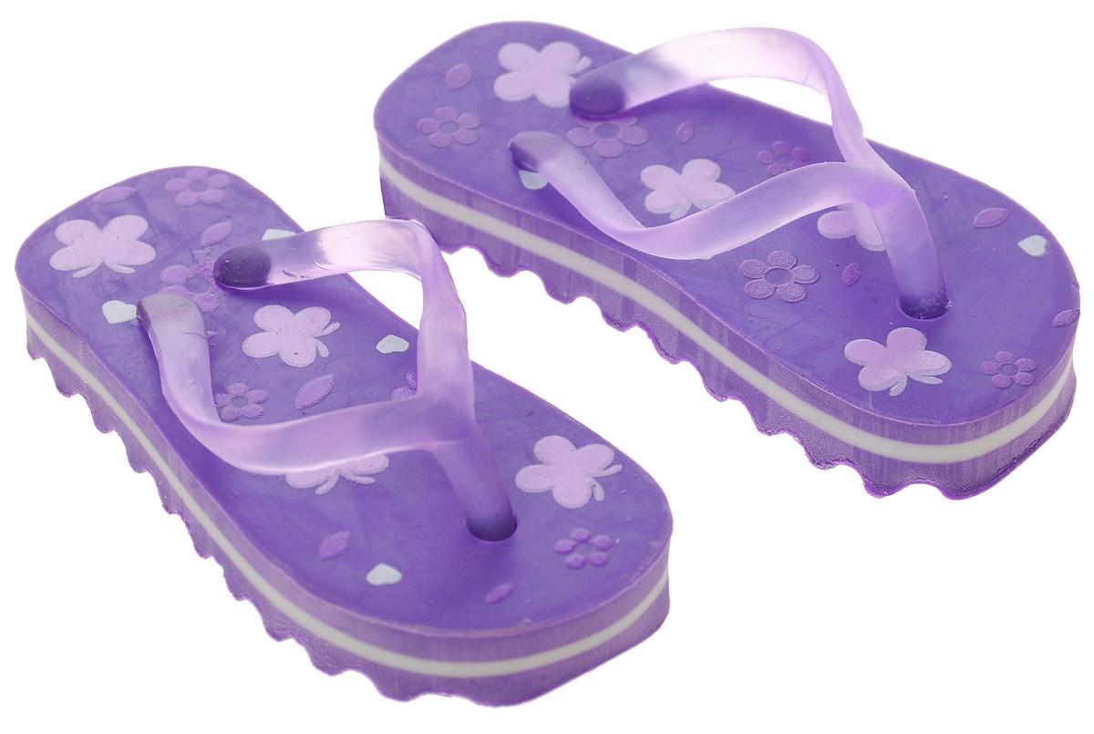 Brunnen Ластик Пляжные тапочки цвет фиолетовый 2 шт