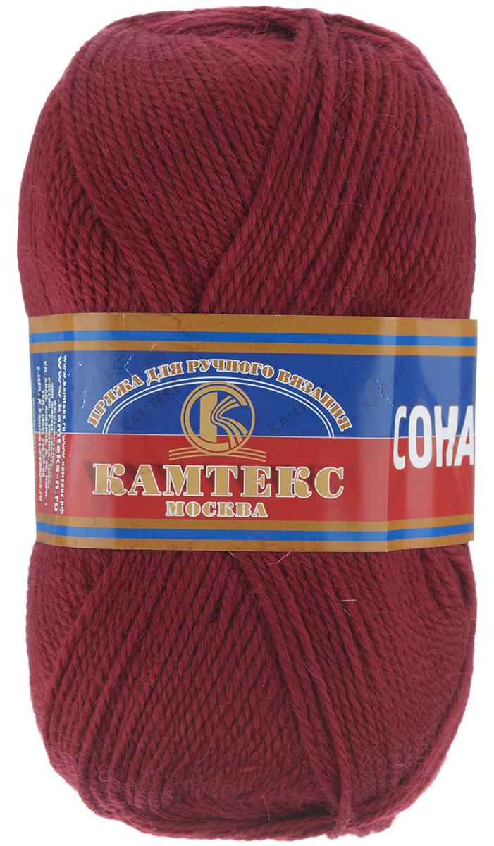 Пряжа для вязания Камтекс Соната, цвет: вишневый (091), 250 м, 100 г, 10 шт136030_091Пряжа для вязания Камтекс Соната изготовлена из 50% шерсти, 50% акрила. Она вяжется легко и свободно, имеет богатую цветовую гамму от теплых пастельных тонов до ярких и смелых оттенков. Ворсистая ниточка ровно складывается в полотно, которое имеет минимальный процент усадки. Из пряжи Соната прекрасно вяжутся теплые туники, жилеты, свитера, платья и многие другие изделия. Рекомендуемые для вязания спицы и крючки 3-5 мм. Состав: 50% шерсть, 50% акрил. Толщина нити: 2 мм.