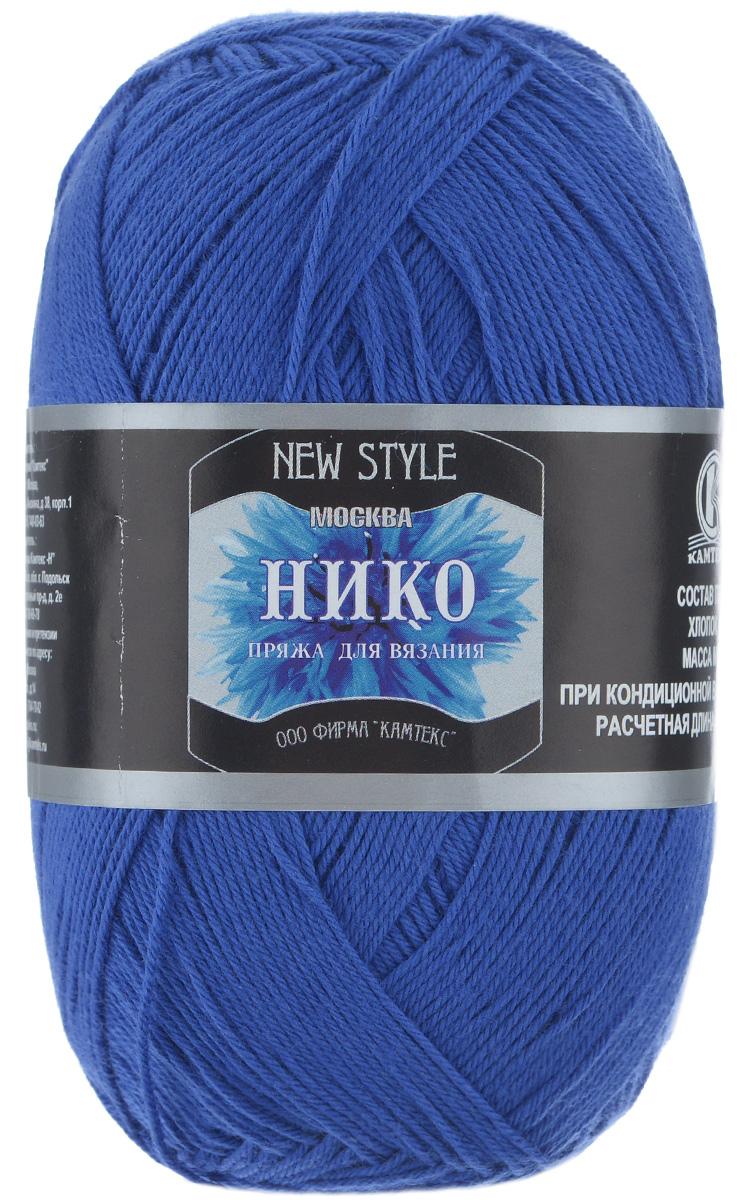 """Пряжа для вязания Камтекс """"Нико"""", цвет: василек (019), 500 м, 100 г, 10 шт"""
