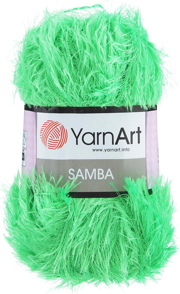 Пряжа для вязания YarnArt Samba, цвет: салатовый (09), 150 м, 100 г, 5 шт372009_09Пряжа YarnArt Samba, изготовленная из 100% полиэстера, представляет собой яркий пример отделочной нити, с помощью которой можно придать оригинальность и красоту каждому изделию. Нить удобна тем, что подлежит работе и крючком, и спицами. Пряжа YarnArt Samba не требует особых изысков в выборе узора - пушистый ворс нитки делает привлекательным даже обыкновенную гладь. Нить скрученная, средней толщины, послушна в работе, удобно скользит. Состав: 100% полиэстер. Комплектация: 5 мотков. Рекомендованы для вязания спицы № 5,5, крючок № 5,5.