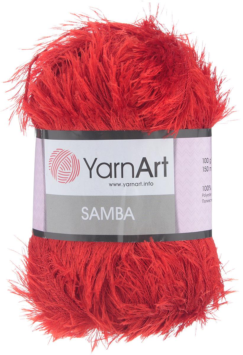 Пряжа для вязания YarnArt Samba, цвет: алый (156), 150 м, 100 г, 5 шт372009_156Пряжа YarnArt Samba, изготовленная из 100% полиэстера, представляет собой яркий пример отделочной нити, с помощью которой можно придать оригинальность и красоту каждому изделию. Нить удобна тем, что подлежит работе и крючком, и спицами. Пряжа YarnArt Samba не требует особых изысков в выборе узора - пушистый ворс нитки делает привлекательным даже обыкновенную гладь. Нить скрученная, средней толщины, послушна в работе, удобно скользит. Состав: 100% полиэстер. Комплектация: 5 мотков. Рекомендованы для вязания спицы № 5,5, крючок № 5,5.