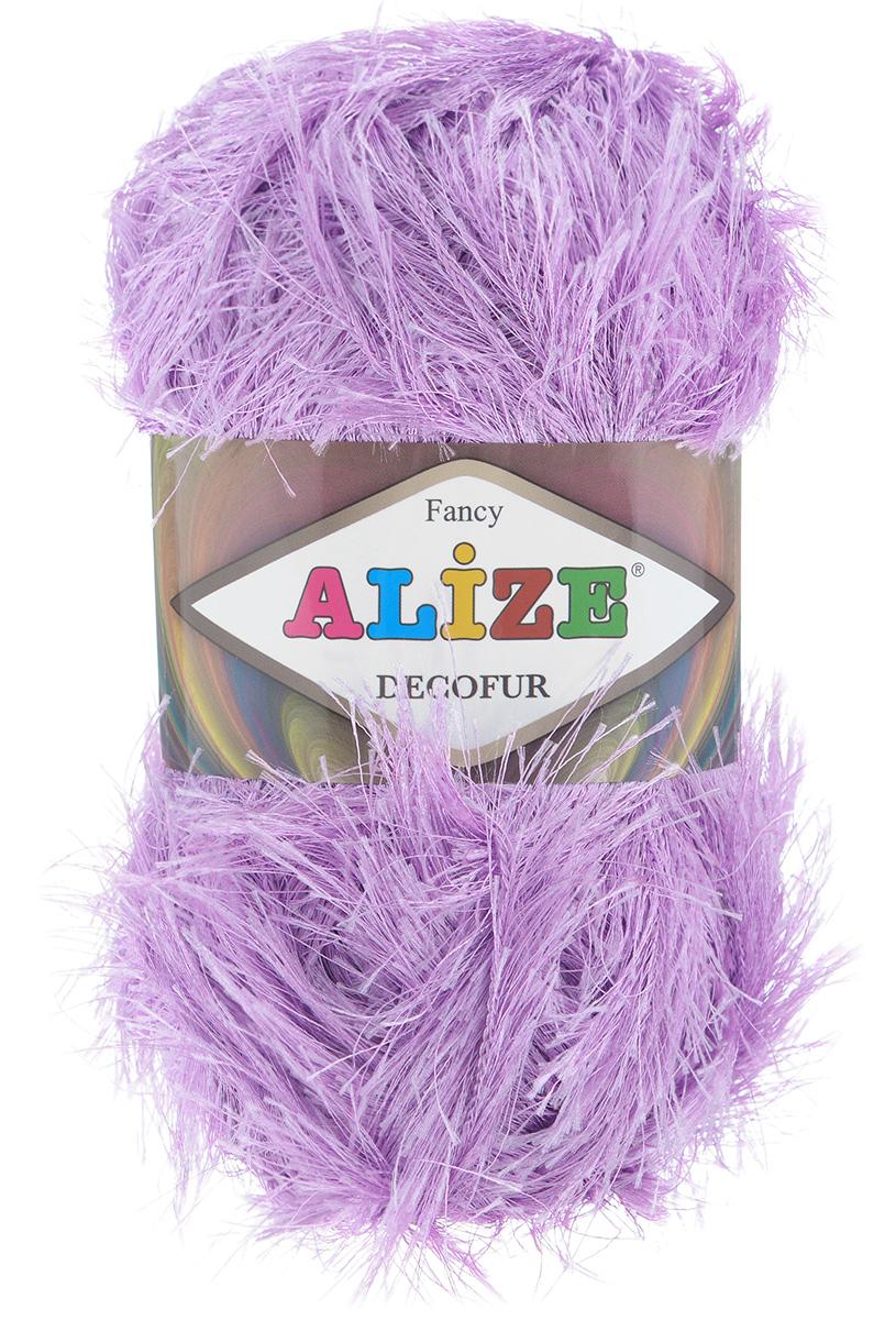 Пряжа для вязания Alize Decofur, цвет: сиреневый (47), 110 м, 100 г, 5 шт364128_47Пряжа Decofur изготовлена из высококачественного полиэстера. Пряжа - травка используется как для вязания самостоятельных пушистых изделий, так и для отделки. Это могут быть нарядные кофточки, куртки, накидки, шарфы, шапки, шали, предметы домашнего интерьера, игрушки и многое другое. Рекомендованные спицы для вязания: 6-8 мм. Рекомендованный крючок для вязания: 3-4 мм. Состав: 100% полиэстер.