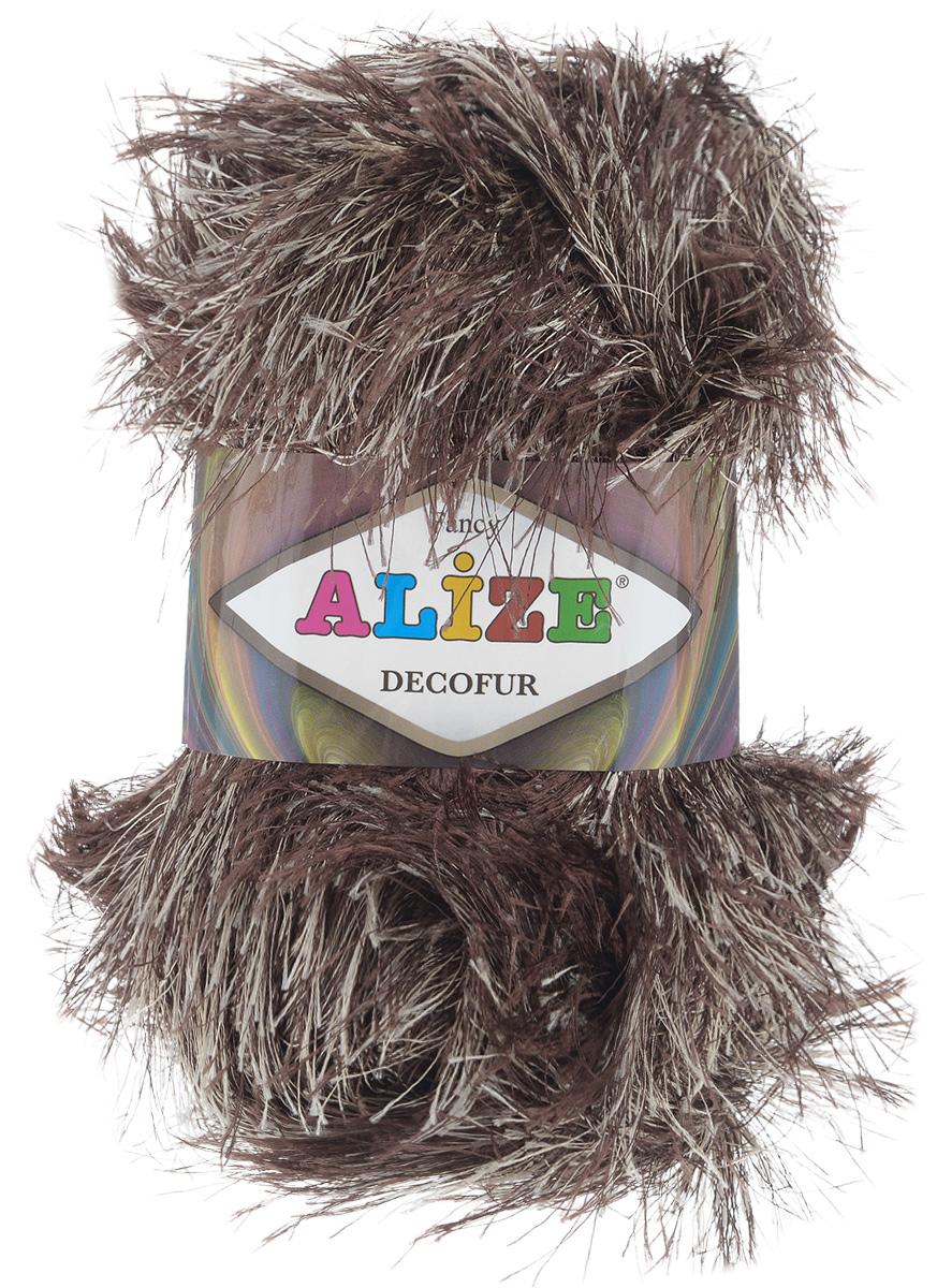 Пряжа для вязания Alize Decofur, цвет: коричневый, бежевый (365), 110 м, 100 г, 5 шт364128_1365Пряжа Decofur изготовлена из высококачественного полиэстера. Пряжа - травка используется как для вязания самостоятельных пушистых изделий, так и для отделки. Это могут быть нарядные кофточки, куртки, накидки, шарфы, шапки, шали, предметы домашнего интерьера, игрушки и многое другое. Рекомендованные спицы для вязания: 6-8 мм. Рекомендованный крючок для вязания: 3-4 мм. Состав: 100% полиэстер.
