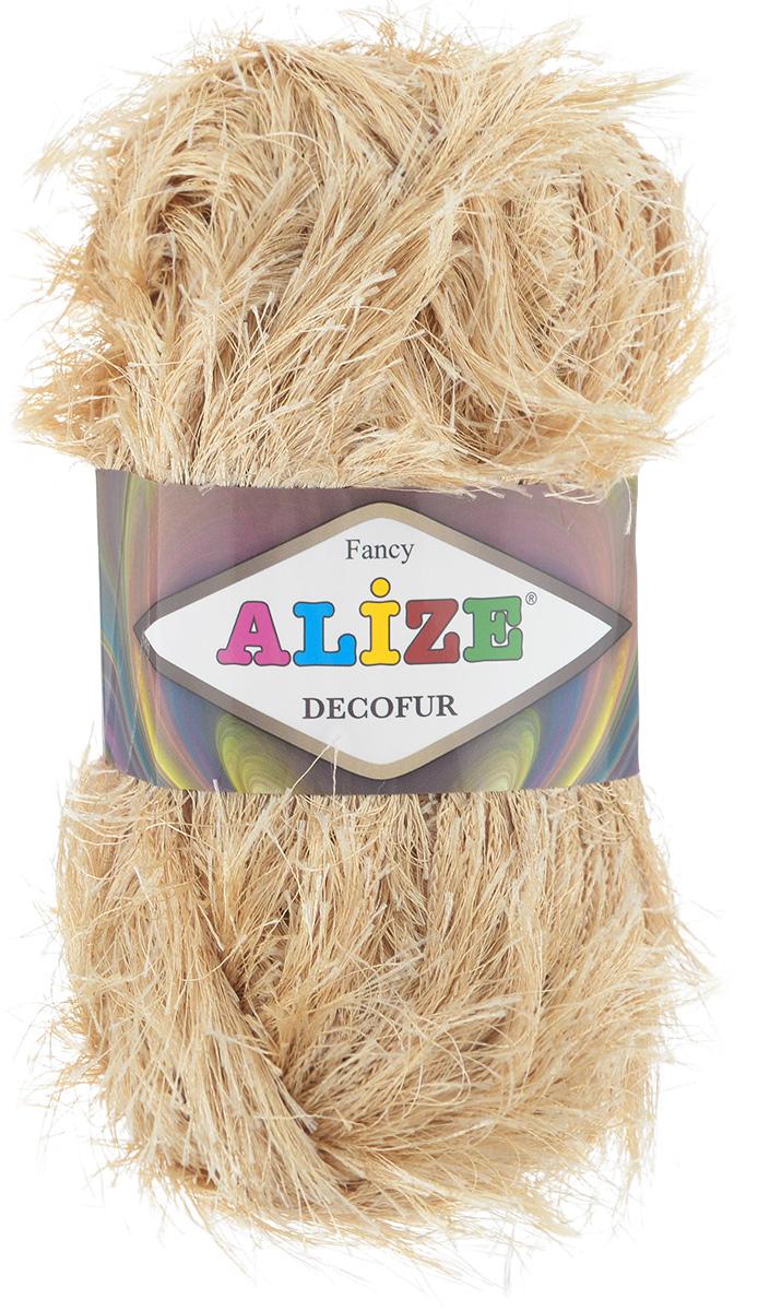 Пряжа для вязания Alize Decofur, цвет: бежевый (95), 110 м, 100 г, 5 шт364128_95Пряжа Decofur изготовлена из высококачественного полиэстера. Пряжа - травка используется как для вязания самостоятельных пушистых изделий, так и для отделки. Это могут быть нарядные кофточки, куртки, накидки, шарфы, шапки, шали, предметы домашнего интерьера, игрушки и многое другое. Рекомендованные спицы для вязания: 6-8 мм. Рекомендованный крючок для вязания: 3-4 мм. Состав: 100% полиэстер.
