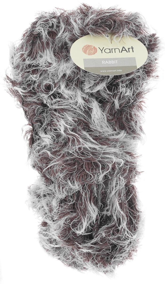 Пряжа для вязания YarnArt Rabbit, цвет: белый, коричневый (560), 90 м, 100 г, 4 шт693354_560Пряжа YarnArt Rabbit - новинка, имитирующая мех кролика фантазийной окраски. Нить тонкая с длинным ворсом. Подходит в качестве отделки одежды, а также в качестве основной пряжи. Вязать лучше всего лицевой гладью, тогда изделие получится мягким и пушистым, как настоящий мех. Состав: 100% полиамид. Рекомендуемый размер спиц: №6. Рекомендуемый размер крючка: №6,5.