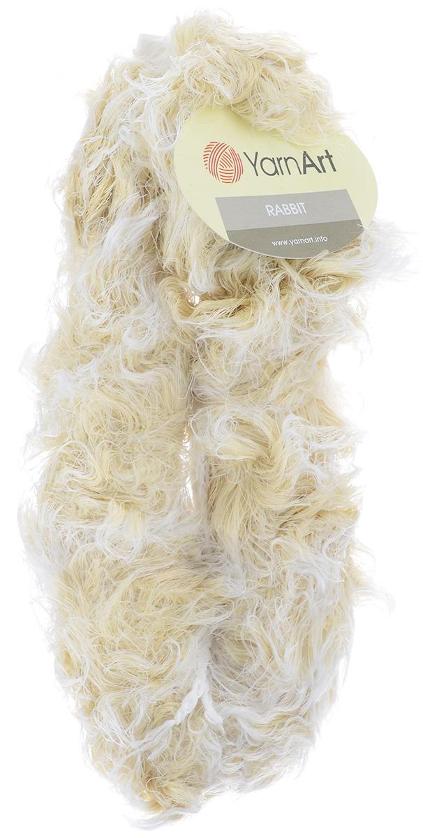 Пряжа для вязания YarnArt Rabbit, цвет: белый, бежевый (551), 90 м, 100 г, 4 шт693354_551Пряжа YarnArt Rabbit - новинка, имитирующая мех кролика фантазийной окраски. Нить тонкая с длинным ворсом. Подходит в качестве отделки одежды, а также в качестве основной пряжи. Вязать лучше всего лицевой гладью, тогда изделие получится мягким и пушистым, как настоящий мех. Состав: 100% полиамид. Рекомендуемый размер спиц: №6. Рекомендуемый размер крючка: №6,5.