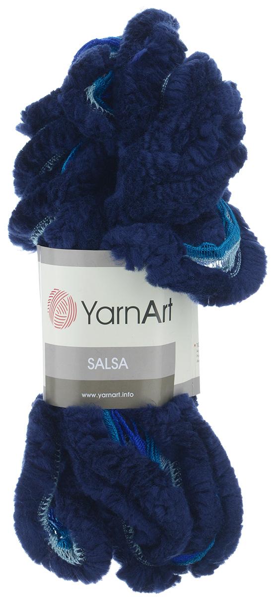 Пряжа для вязания YarnArt Salsa, цвет: темно-синий (251), 7 м, 125 г, 4 шт694748_251Пряжа для вязания YarnArt Salsa - фантазийная ленточная пряжа, в состав которой входит акрил. Пряжа представляет собой широкую ленту с меховым краем с одной стороны. Прекрасно подойдет для вязания шарфов, аксессуаров, а также для отделки изделий. С такой пряжей вы можете быстро и не дорого сделать подарок своими руками для родных и близких людей. Рекомендованы спицы 8 мм. Состав: 100% акрил.