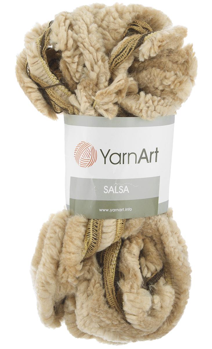 Пряжа для вязания YarnArt Salsa, цвет: бежевый, коричневый (256), 7 м, 125 г, 4 шт694748_256Пряжа для вязания YarnArt Salsa - фантазийная ленточная пряжа, в состав которой входит акрил. Пряжа представляет собой широкую ленту с меховым краем с одной стороны. Прекрасно подойдет для вязания шарфов, аксессуаров, а также для отделки изделий. С такой пряжей вы можете быстро и не дорого сделать подарок своими руками для родных и близких людей. Рекомендованы спицы 8 мм. Состав: 100% акрил. Комплектация: 4 мотка.