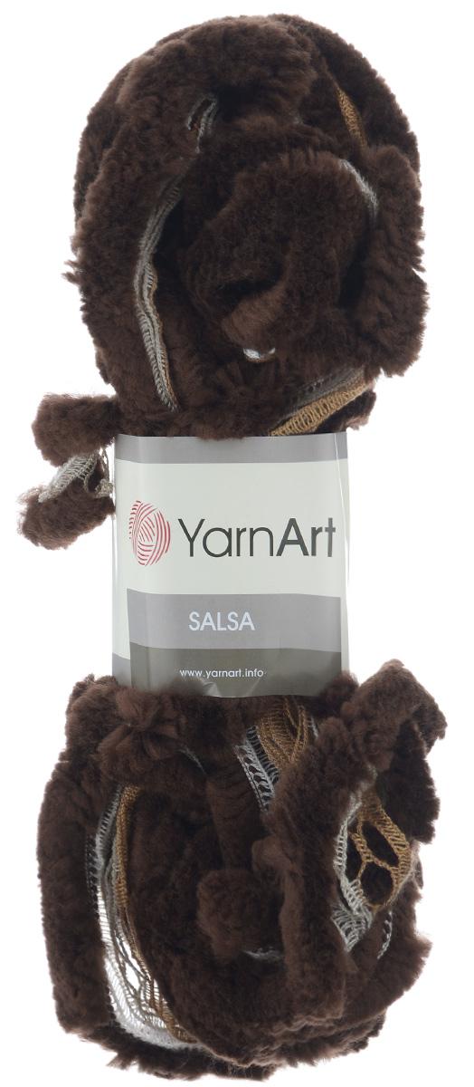 Пряжа для вязания YarnArt Salsa, цвет: коричневый (252), 7 м, 125 г, 4 шт694748_252Пряжа для вязания YarnArt Salsa - фантазийная ленточная пряжа, в состав которой входит акрил. Пряжа представляет собой широкую ленту с меховым краем с одной стороны. Прекрасно подойдет для вязания шарфов, аксессуаров, а также для отделки изделий. С такой пряжей вы можете быстро и не дорого сделать подарок своими руками для родных и близких людей. Рекомендованы спицы 8 мм. Состав: 100% акрил.
