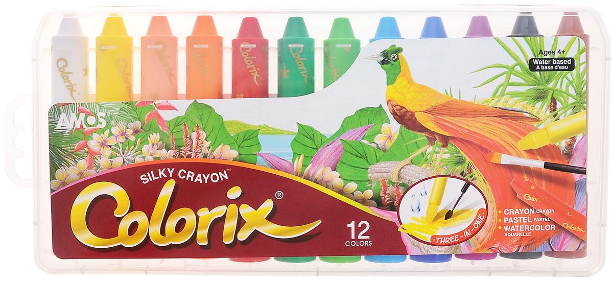 Amos Цветные карандаши Colorix, 12 цветовCRX5PC12Цветные карандаши Amos Colorix идеальный инструмент для самовыражения и развития маленького художника! Карандаши имеют уникальную восьмиугольную форму. В наборе представлены 12 цветных карандашей (коричневый, черный, фиолетовый, синий, голубой, салатовый, зеленый, красный, оранжевый, оранжево-розовый, желтый, белый). Оснащены карандаши колпачками, чтобы снять его, слегка поверните по часовой стрелке. Использовать такие карандаши можно в трех вариантах: мелки для создания яркой плотной текстуры, пастель, чтобы создать мягкую растушевку и смешивать цвета, акварель для придания оттенков и эффектов. Карандаши не пачкаются, не токсичны и не имеют запаха. Рекомендуемый возраст: от 4 лет.