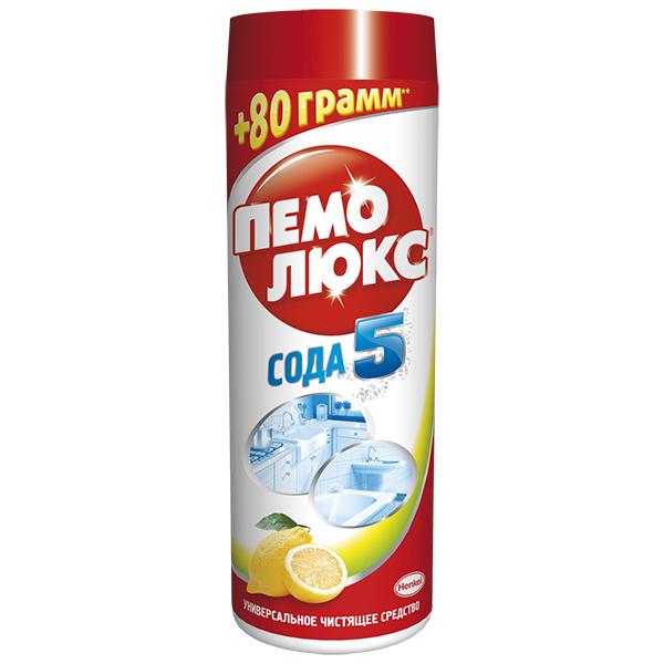 Чистящее средство Пемолюкс Лимон, 480 г935062Чистящее средство Пемолюкс Лимон обеспечивает 5 слагаемых эффективной и безопасной уборки: - эффективность против жира и въевшейся грязи, - универсальное использование по всему дому, - бережное очищение разнообразных поверхностей, - безопасное средство - без агрессивных химикатов, - аромат свежести и чистоты. Мощная формула Сода 5 с содой и мягким абразивом не содержит опасных химикатов и подходит для чистки керамических, эмалированных, металлических и других твердых поверхностей на кухне, в ванной комнате и в прочих помещениях. С осторожностью использовать на полированных и пластиковых поверхностях. Не содержит хлор. Дерматологически протестировано. Состав: Товар сертифицирован.