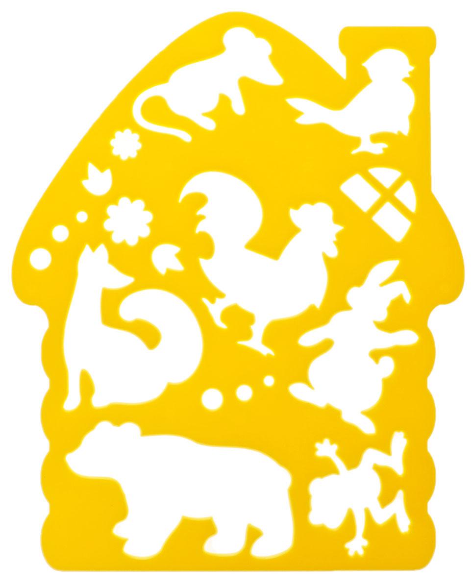 Луч Трафарет фигурный Теремок цвет желтый
