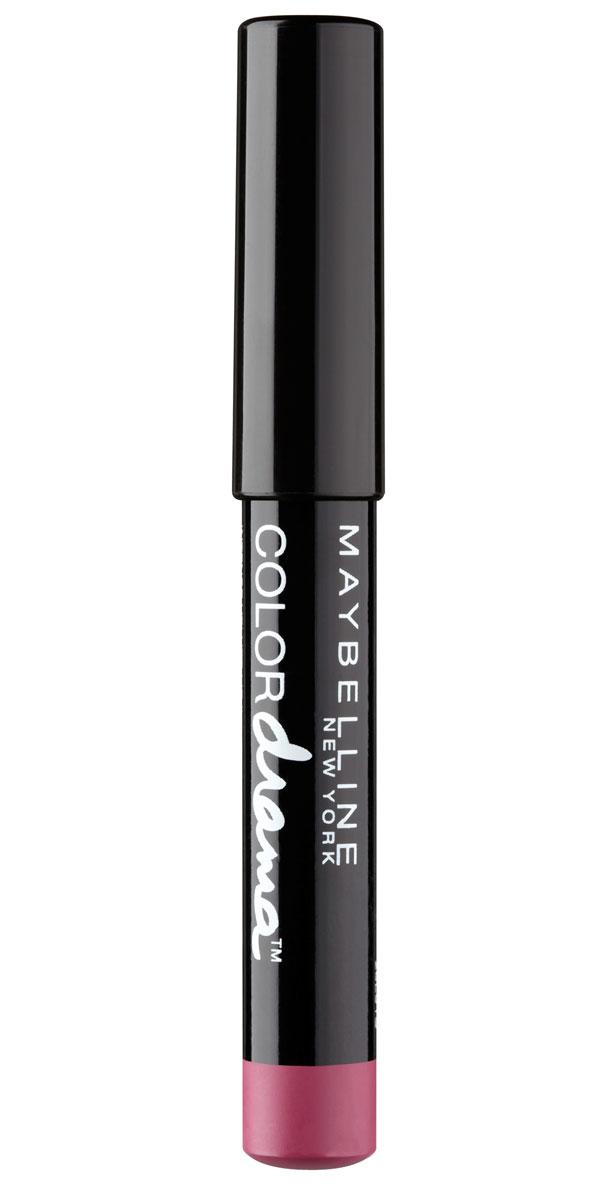Maybelline New York Помада-Карандаш для губ Color Drama, кремовая, оттенок 130, Мечтательный розовый, 6 грB2860300Помада-карандаш для губ Color Drama обеспечивает стойкий, яркий, насыщенный оттенок. Благодаря кремовой текстуре не сушит губы.