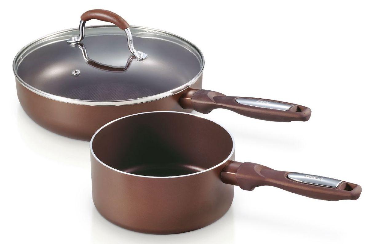 Набор Pro Induc Bronze ковш 1.1 л + сотейник с крышкой с антиприг. покрытием 24 см, арт.1361800413618004Набор посуды для индукционной плиты