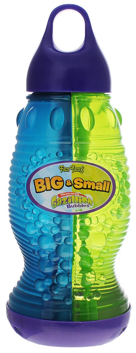 Gazillion Bubbles Мыльные пузыри Fan Yang 2в1 1440 мл36348Мыльные пузыри Gazillion Bubbles Fan Yang 2в1 - это прекрасный подарок для любого малыша. Набор включает в себя флакон с мыльными пузырями. Нестандартный флакон мыльных пузырей, объемом 1440 мл поделен на две части, в каждой из которых находятся совершенно разные мыльные растворы. Теперь ваш малыш сможет выдувать самые разные пузыри - большие и маленькие, наблюдая за тем, как они взмывают в воздух и переливаются под яркими лучами солнца. Порадуйте своего ребенка таким необыкновенным подарком!