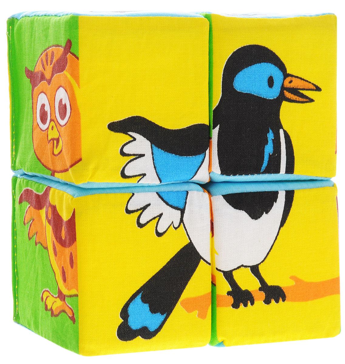 Мякиши Развивающая игрушка Собери картинку Птицы239Развивающая игрушка Мякиши Собери картинку. Птицы обязательно привлечет внимание вашего малыша. Игрушка выполнена в виде четырех кубиков. Правильно складывая кубики, ребенок получит изображения в виде различных птиц. Данная игрушка способствуют развитию сенсорных способностей, развитию речевых навыков, развитию целостности зрительного восприятия и мелкой моторики детских ручек.